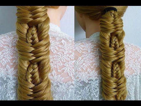 Коса Рыбий хвост.Техника плетения кос.Причёска с плетением.Красивые причёски в школу - YouTube