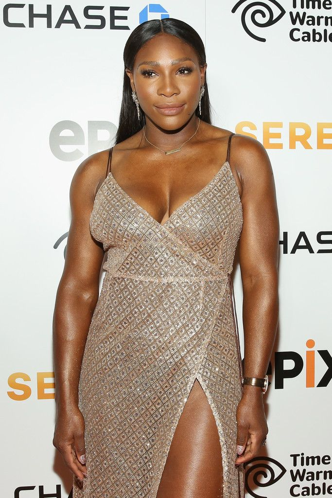 Tennis Player Serena Williams attends the EPIX New York Premiere of  'Serena' on June 13, 2016 in New York City.