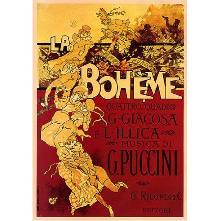 Trademark Fine Art Boheme-Puccini Canvas Art by Adolfo Hohenstein, 35x47, Multicolor