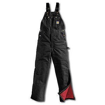 Carhartt Men's Insulated Bib Overall - Black