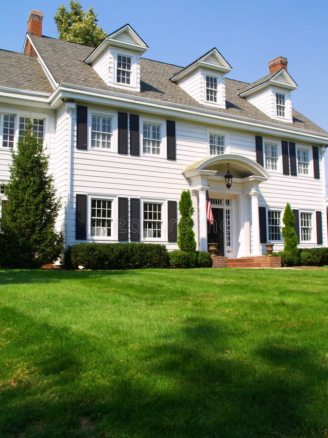 Colonial Home An Elegant Colonial Style Home Ad Elegant Home Colonial Home Style In 2020 Colonial House Exteriors Colonial Exterior Colonial Style Homes