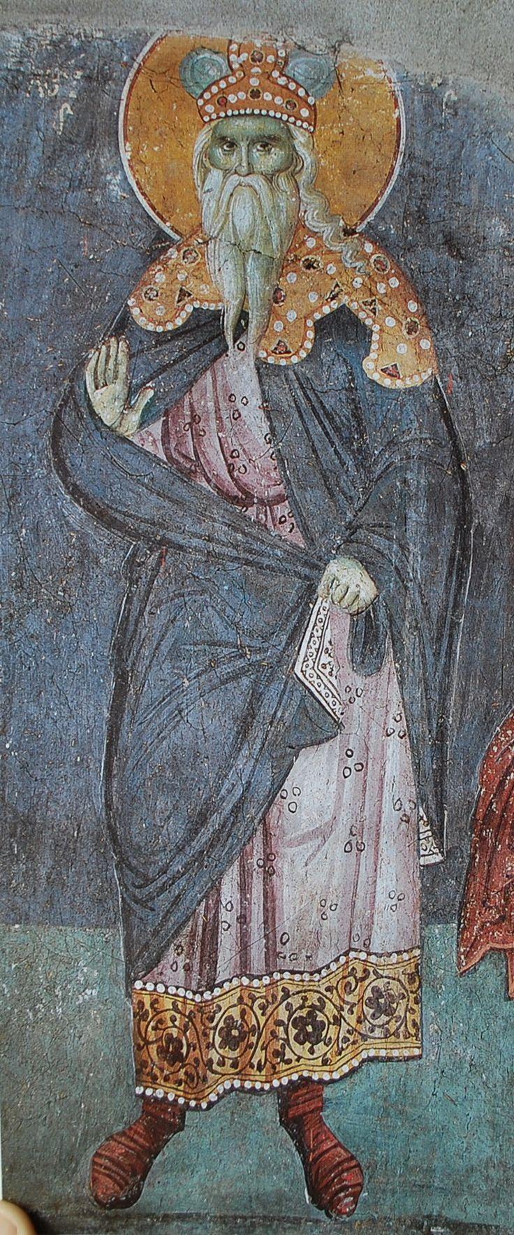 Фрески работы Мануила Панселина в соборе Протата в Карее, Афон, XIV в.