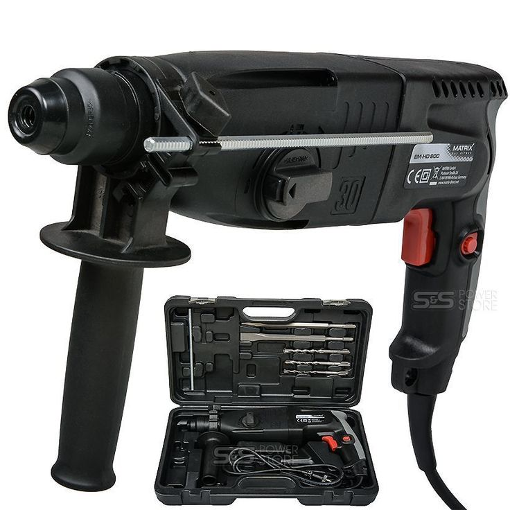 Matrix Bohrhammer EM-HD 800 Meißelhammer Schlagbohrer Schlagohrmaschine SDS Plus