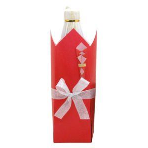 包装部:ラッピング方法>バリエーション>ボトルラッピングB