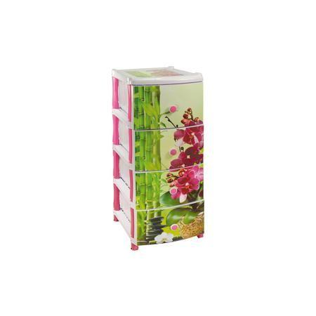 """Alternativa Комод """"Орхидея"""" 4-х секционный, Alternativa  — 2035р.  Характеристики:  • Предназначение: для кухни, для ванной, для детской • Пол: для девочки • Материал: пластик • Цвет: розовый, зеленый • Размер (Д*Ш*В):  50*39*98 см • Вес: 5 кг 300 г • Количество секций: 4 шт. • Тип ящиков: выдвижные, с круглыми ручками • В комплекте имеется инструкция по сборке • Форма: прямоугольный • Особенности ухода: разрешается мыть теплой водой  Комод """"Орхидея"""" 4-х секционный, Alternativa изготовлен…"""