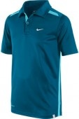 Nike Boys Club Polo features a self fabric collar, two button contrast placket, contrast stripes on shoulders and sides, Nike court logo sewn on left hem, and heat transfer Swoosh on left chest.