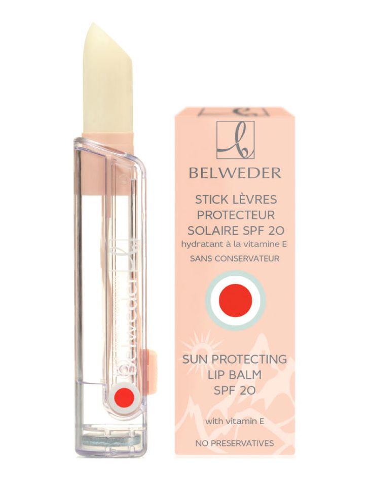 Moisturizing lipstick with vitamin E and Sunscreen (SPF20) Belweder
