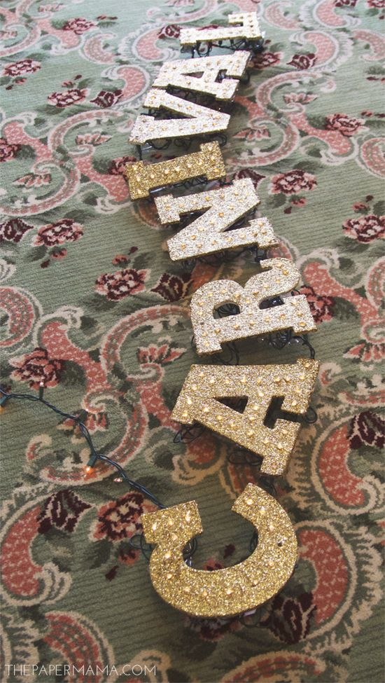 DIY-ify: Light-up Glitter Marquee Letters | BHG Style Spotters
