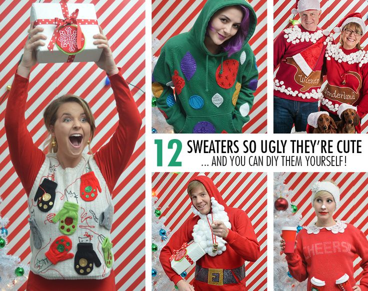 51 best ugly christmas sweater diy images on pinterest ugly these 12 ugly sweater ideas are perfect for your ugly holiday sweater party learn how solutioingenieria