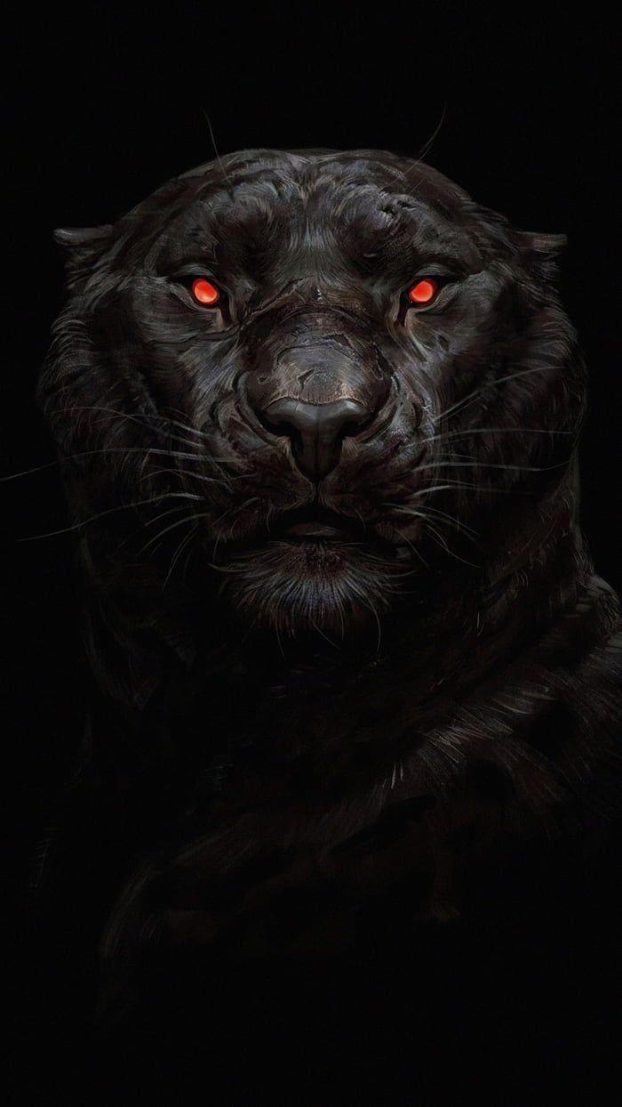 Wallpaper Big Cats Art Black Panther Art Mythical Creatures Art