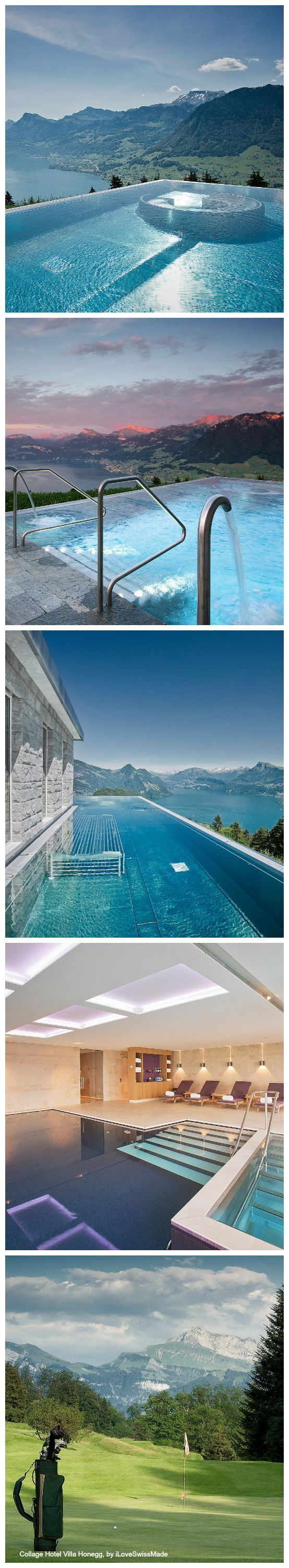 Hotel Villa Honegg in Switzerland hotel fancy elegant swimming pools    and 5 amazing hotels you must visit before you dies, vacation bucket list February 2015