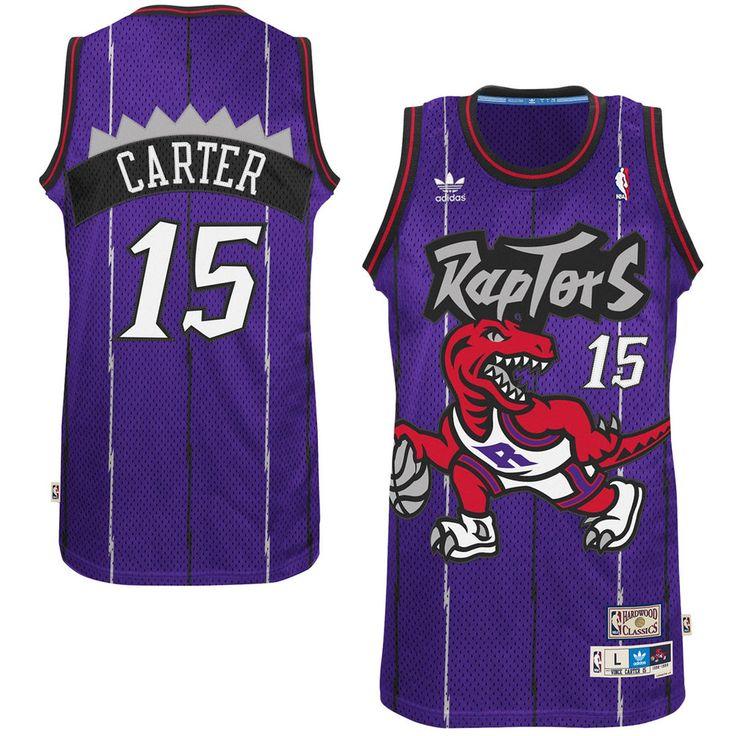 Men's Toronto Raptors Vince Carter adidas Purple Hardwood Classics Swingman  Jersey