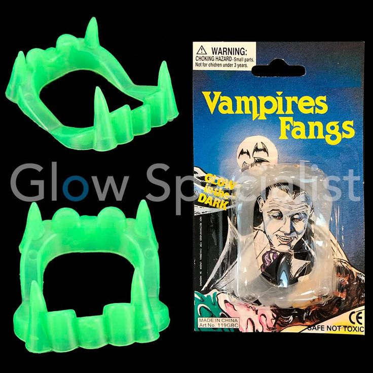 GLOW IN THE DARK VAMPIER TANDEN - Glow Specialist