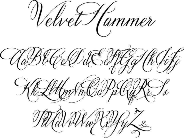 fancy letters font velvet hammer is a classical calligraphy font designed by 34493