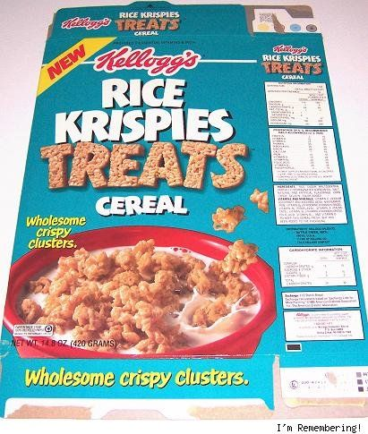 BEST cereal on the planet......The 50 Greatest Discontinued '90s Foods and Beverages....Oh these were good!Treats Cereal, 90 S, Remember This, Discontinued Food, Childhood Memories, Rice Krispies Treats, Memories Lane, 90S Food, Rice Krispie Treats