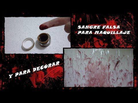 SANGRE FALSA FACIL PARA MAQUILLAJE Y PARA DECORAR - YouTube