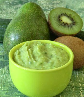 Petite tartinable légère concombre,  avocat,  kiwi,  citron.  Bonne association avec un curry.