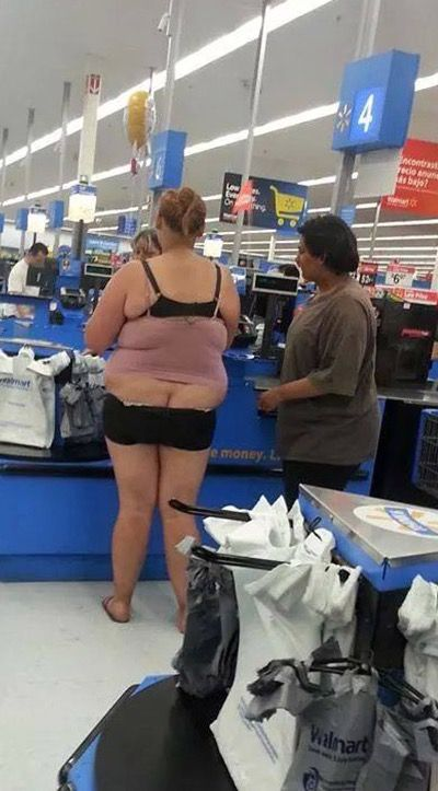 Black Tube Top Shorts and Skin Tight Camisoles at Walmart - Funny Pictures at Walmart