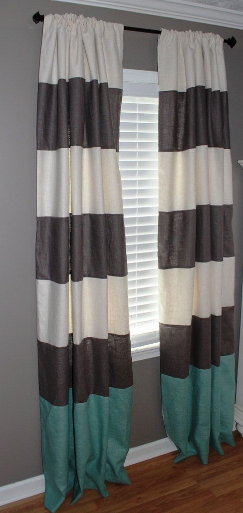 color block curtains 108 navy and white pink nursery
