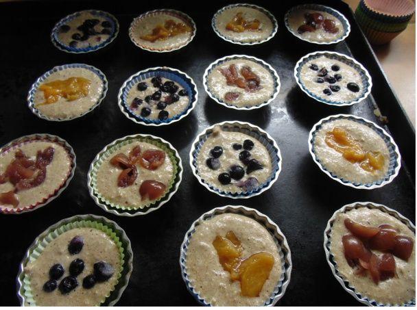 Ovocné muffinky bez múky a cukru - obrázok 2