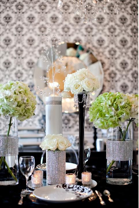Prom Dinner Party Ideas Part - 42: Black And White Table Setting. Find This Pin And More On Prom Dinner Ideas  ...