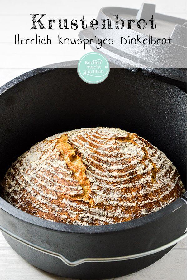 Wie wäre es mit einem köstlichen knusprigen Dinkelbrot nur mit …   – Brot Rezepte