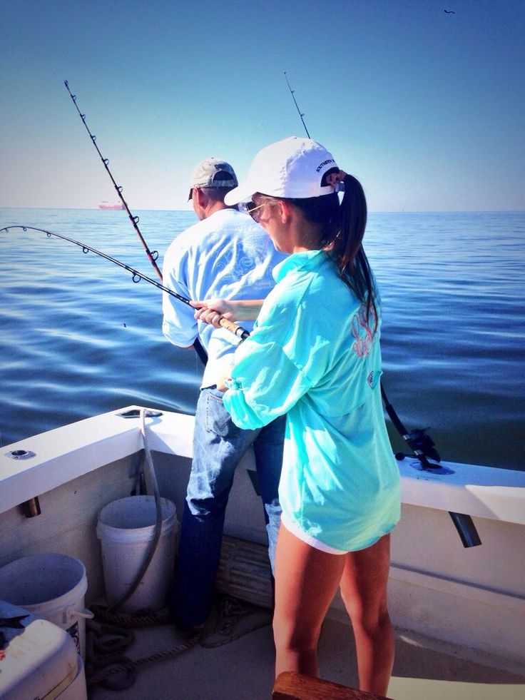 Everyone I know has these monogram fishing shirts including myself. Cute and practical.