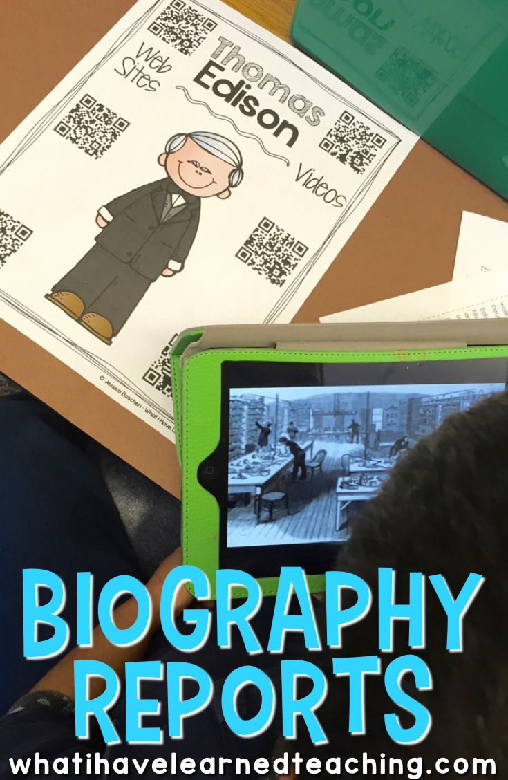 Our biography unit is one of my favorite units!  This is the first time students experience an independent report, use technology, and have to synthesize information from various sources.  Find out how we do biographies in our classroom.
