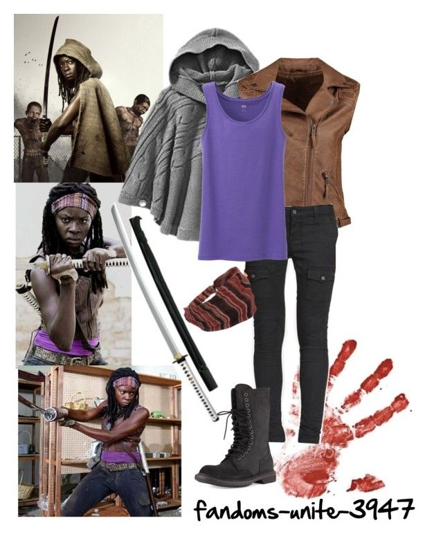 """DIY Halloween Costumes: Michonne"" by fandoms-unite-3947 ❤ liked on Polyvore"