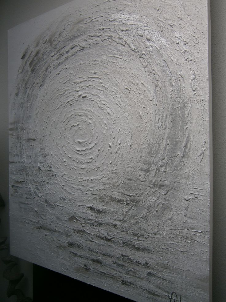 Painting .Abstract .White -silver...Never Ending ..Home made ....