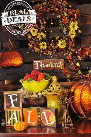 Thanksgiving Home Decor By Real Deals On Home Decor