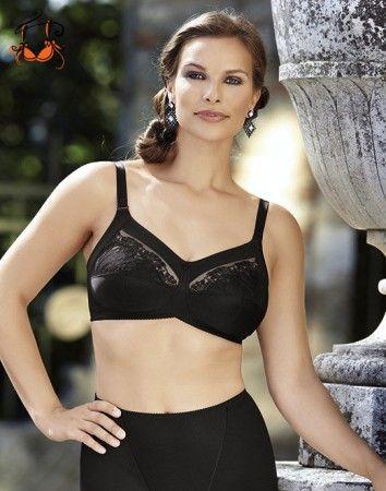 Safina komfort melltartó, vékony pántos, fekete, 85C