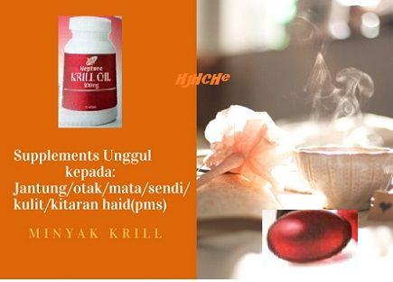 Supplement anti-penuaan, untuk kesihatan jantung,sendi,minda dan sindrom pms(haid) wanita,normalkan diabetes