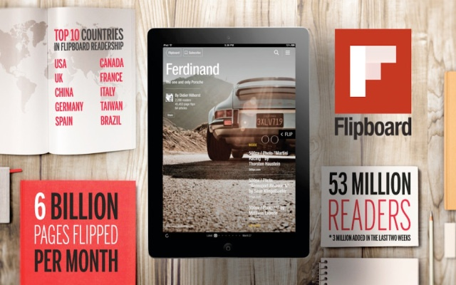 Flipboard Adds 3 Million Users Since Launch Of Personalized Magazines, Over 500,000 Magazines Created To Date