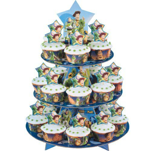 WILTON Toy Story 3-Tier Cupcake Stand Kit - Holds 24 Cupcakes! Garden Lawn Maintenance @ niftywarehouse.com #NiftyWarehouse #Toy #Story #Movie #ToyStory #Pixar
