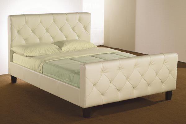 Bedworld Discount Tuscan Faux Leather Bed Frame Double 135cm Tuscan Faux Leather Bed Frame is a extremely modern and sumptuously large cream faux leather bed available in 4'6ft and 5ft. Part of our faux leather beds collection it comes with wooden slats to s http://www.comparestoreprices.co.uk/bedroom-furniture/bedworld-discount-tuscan-faux-leather-bed-frame-double-135cm.asp