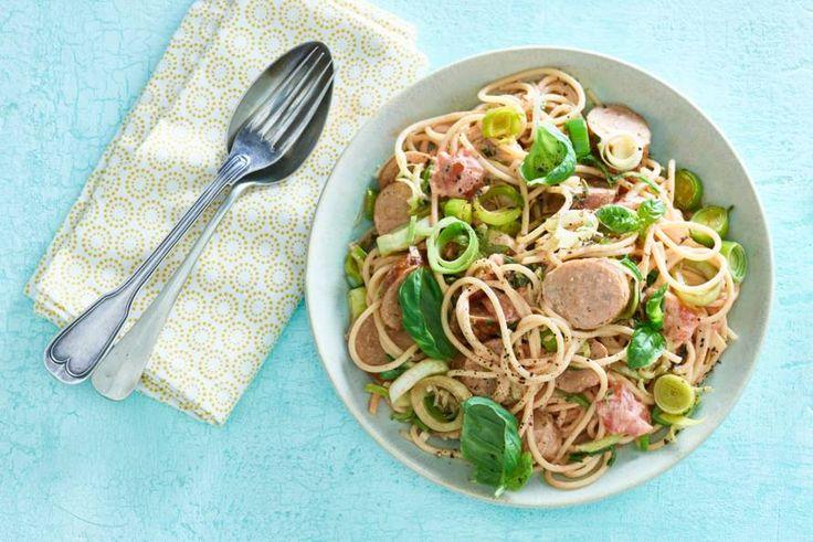 20 november - Spaghetti en Philadelphia in de bonus - een absolute kidsfavoriet, ze merken niet eens dat ze groente binnenkrijgen! - recept - allerhande