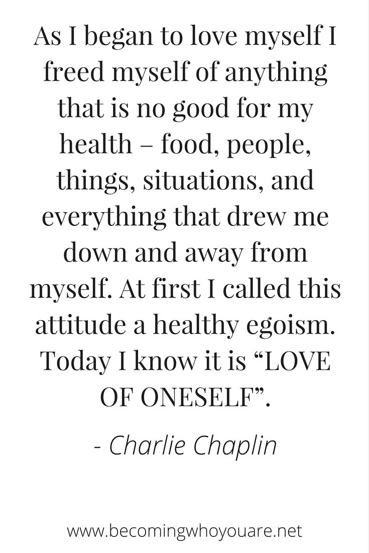 Click to read this inspiring poem by Charlie Chaplin on self-love, authenticity and respect | www.becomingwhoyouare.net