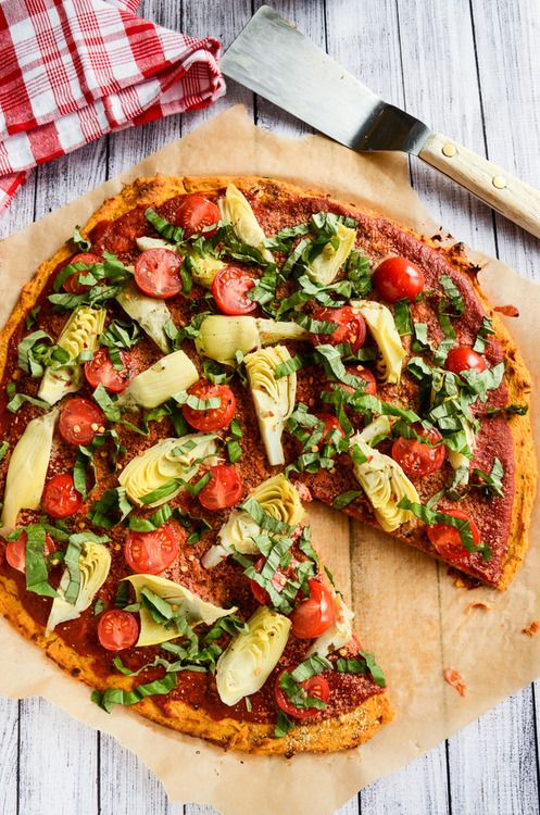 Sweet Potato Pizza Crust (GF) #vegan #food #recipe #veganfood