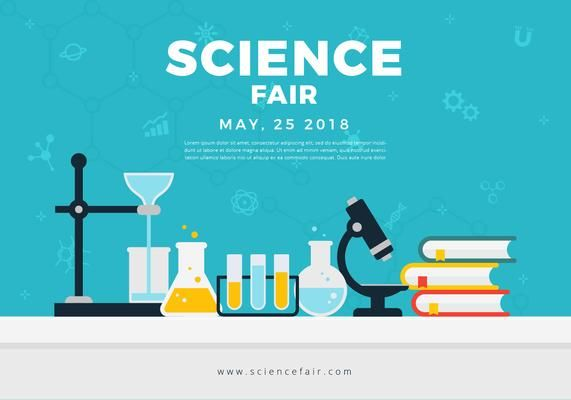 science fair poster banner element tables science fair poster