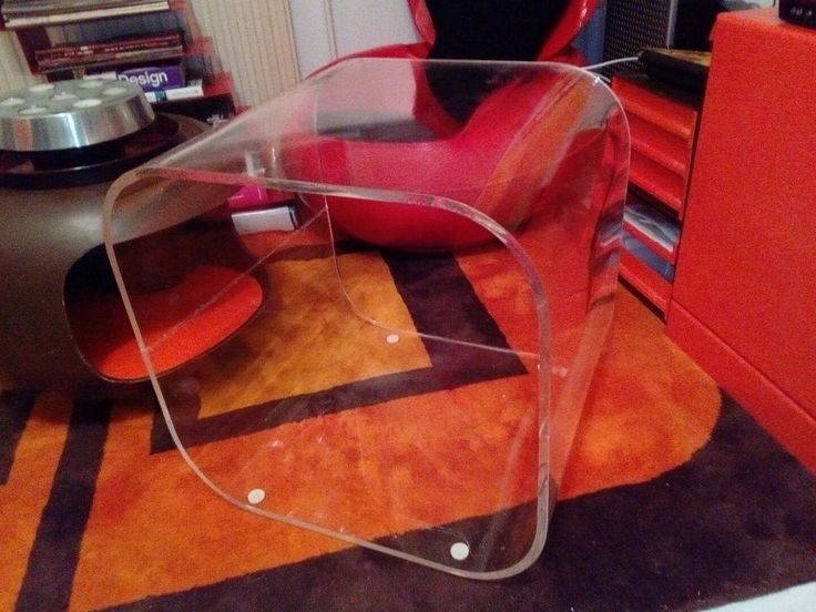Acryltisch plexiglastisch tisch beistelltisch retro 70 ern couchtisch cubus