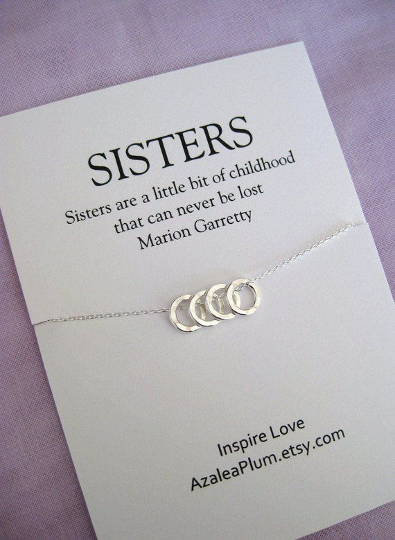 Sister Gift Sterling Silver Birthday 40th For Women 50th