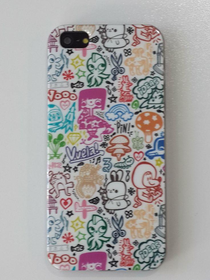 Carcasa dibujo muñecos colores Iphone 5 / 5S a 4,95€ Envíos incluidos www.mcase.es