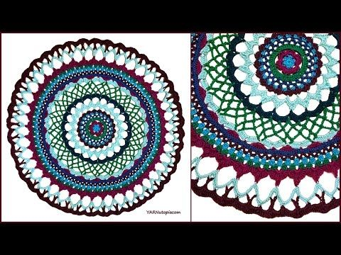 Mandala de crochet / ganchillo - YouTube
