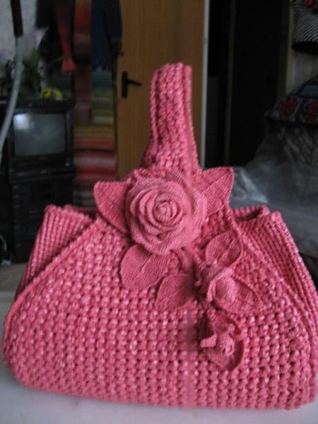 carteras: Crochet Rose, Crochet Bags, Hands Made, Crochetbag, Bag, Summer Bags, Crochet Purses, Crochet Home, Crochet Handbags