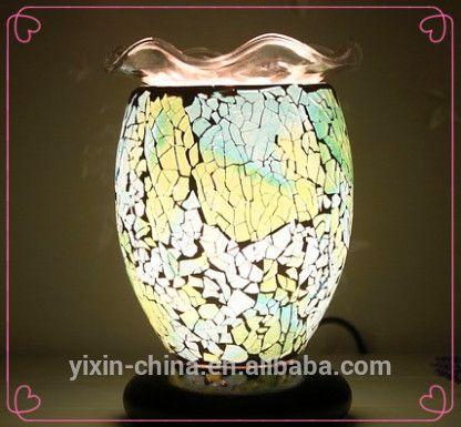 new antique electric oil Warmer lamp small decorative oil lamp mosaic fragrance lamp YXNY-23