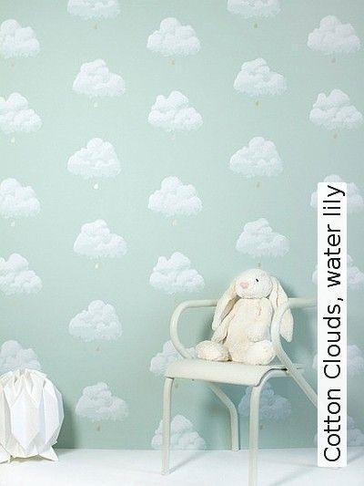 Bild: Tapeten - Cotton Clouds, water lily