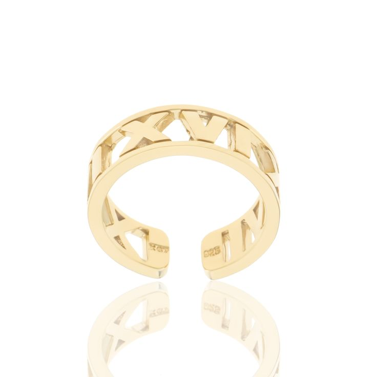 2016 Gold plated sterling silver ring.  Dimensions:20 X 22 mm. Γούρι 2016 δακτυλίδι σε ασήμι 925 επιχρυσωμένο.  Διαστάσεις :20 X 22 mm