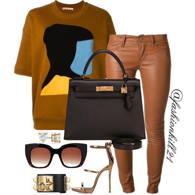 CARMELATTA  DETAILS: Top #Marni Pants #Currentelliott Bag #Hermes Shoes #Giuseppezanottii Bracelet #Hermes Frames #Theirrylasry #Styledbyfashionkill21