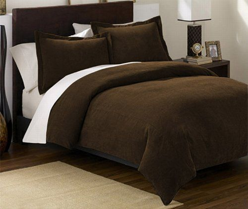 Soft Brown Comforter Chezmoi Collection 3 Pieces Solid